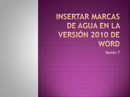 Insertar marcas de agua en la versión 2010 de Word
