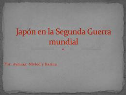 Japón en la segunda guerra mundial