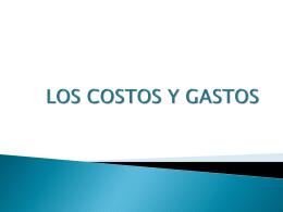 LOS COSTOS Y GASTOS