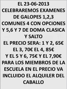 exámenes de galopes 23-06-2013