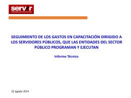 Presentación sobre el Gasto en Capacitación del Sector Público.