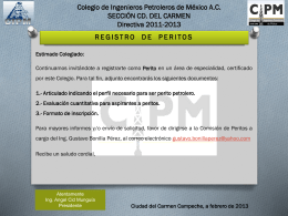 2DO_AVISO_PERITOS - Colegio de Ingenieros Petroleros de