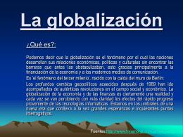 CAUSAS DE LA GLOBALIZACIÓN - Sociales-TIC
