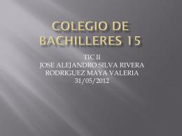 COLEGIO DE BACHILLERES 15