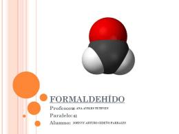 Formaldehido - Blog de ESPOL
