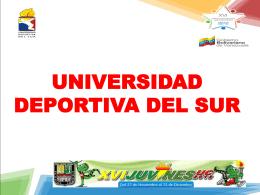 Diapositiva 1 - Universidad deportiva del Sur
