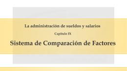 Sistema de comparación de factores