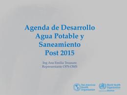 Agenda de Desarrollo Agua Potable y Saneamiento - RAS-HON