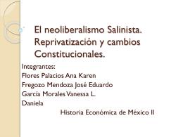 neoliberalismo Salinista