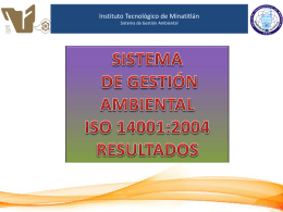 Diapositiva 1 - Minatitlán - Instituto Tecnológico de Minatitlán