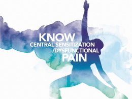 Know Pain in General - Know Pain Educational Program