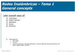 Tema 1 - Redes Multimedia