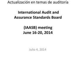 Actualización en temas contables y de auditoria