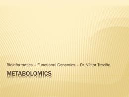 Metabolomics Genomica Funcional