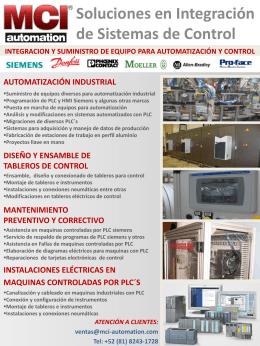 Diapositiva 1 - MCI Automation