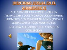 IDENTIDAD SEXUAL EN EL ADOLESCENTE - wik-equipo4