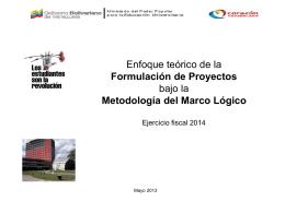 TALLER DE FORMULACION DE PROYECTOS Ejercicio fiscal 2014
