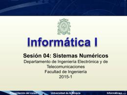 04_SistemasNumericos - Universidad de Antioquia