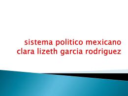 El SISTEMA POLITICO MEXICANO (1940