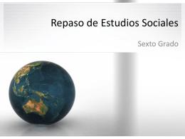 Repaso de Estudios Sociales