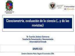 Cienciometría y medidas de calidad de las revistas científicas