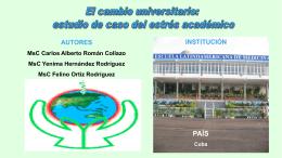 Mst. Carlos Román – Catedrático e investigador de la Universidad