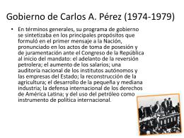 Gobierno de Carlos A. Pérez (1974