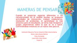 MANERAS DE PENSAR - Educación Digital p…