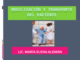 movilización y transporte del paciente