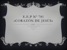 E.E.P Nº 781 «CORAZÓN DE JESÚS»