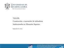 Indicadores de capacidad y competitividad académica.