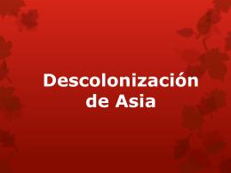 Descolonización de Asia
