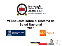 [Title of presentation] - Instituto de Salud Publica de la Universidad