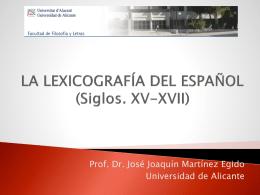 La lexicografía del español (siglos XV-XVII)