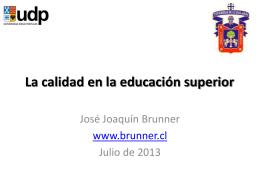 Calidad_072013 - José Joaquín Brunner