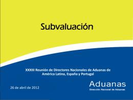 Evaluación e Identificación de Subvaluación