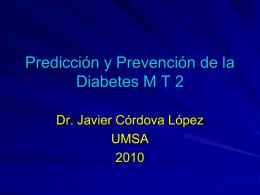 Predicción y prevención de la Diabetes M 2