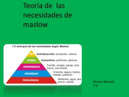 teoria de las nesecidades de maslow 2