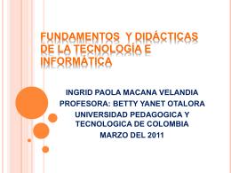 fundamentos y didácticas de la tecnología e informática