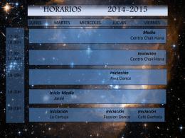 Horarios 2014-2015 - Veronica Oriental Danza Oriental en Valencia