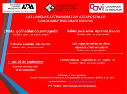 Las lenguas extranjeras en UAM Azcapotzalco
