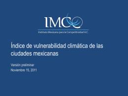 Consejo de administración - Índice de vulnerabilidad climática