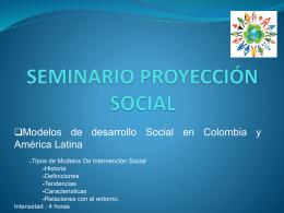 SEMINARIO PROYECCIÓN SOCIAL