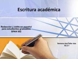 Escritura Académica SPAN 501