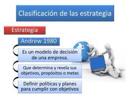 Clasificación de las estrategia