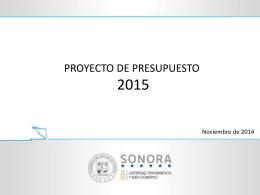 presupuesto 2015 resumen