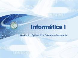 11_Python(2) - Universidad de Antioquia