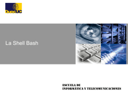The Bash Shell
