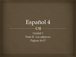 Español 4 - Ms. Desrochers` website