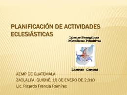 PLANIFICACIÓN DE LAS ACTIVIDADES ESPIRITUALES